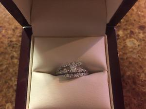 Stunning Engagement Ring with Custom designed wedding bands
