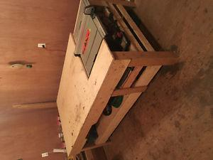 Table saw outfeed table /work table
