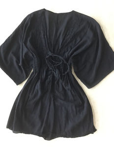 Women's Black Beach Cover Up | Short | Size Small
