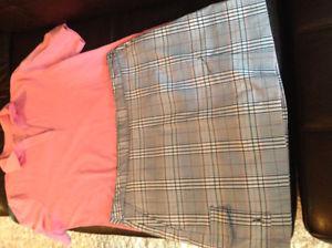 Women's IZOD Skort and Polo shirt set x2