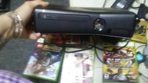 Xbox 360 complete with 3 games