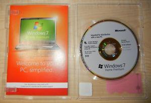 new never used windows home premium with cd key