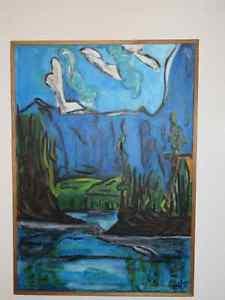 À vendre tableau, en acrylique, numéro 6