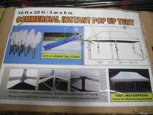 10' x 20' NEW COMMERCIAL INSTANT POP UP TENT NEVER USED $500