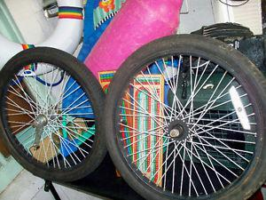 """20""""X195 FRONT AND BACK COMPLETE WHEEL COASTER BRAKE,"""