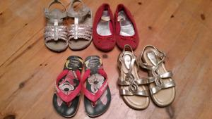 4 pairs of size 10 girl shoes