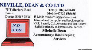 Accounts, Tax Returns, Bookkeeping, CIS, VAT PAYROLL