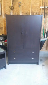 Armoire dresser and nightstand