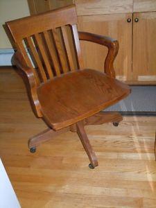 Beautiful antique oak desk chair