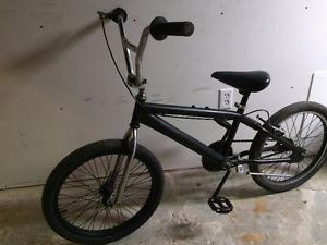 Black bmx bike, (20 Inch tires)
