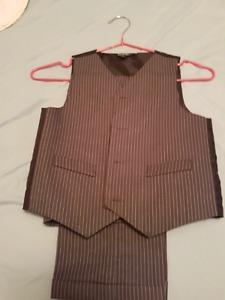 Boys dress pants and vest