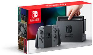 Brand new sealed Nintendo Switch with grey controller