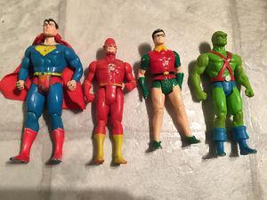 DC Super Powers Superman Flash Martian Robin