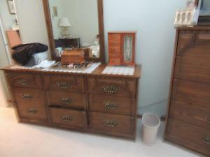 Dresser, chest of drawers, and night table