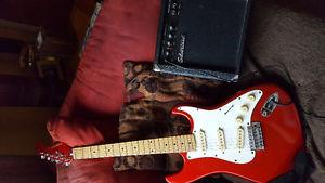 Electric guitar and small amp