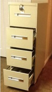 File Cabinet, Secure Commercial 4-Drawer Legal