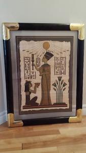 Franklin Mint Papyrus (Tutankhamun & Nefertiti) $50 each