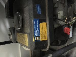 Gas powered water pump and discharge hoses