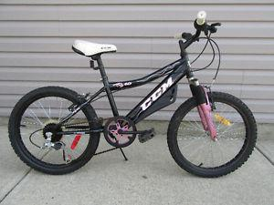 "Girls CCM Bike 20"" wheels, front suspension, 6 speed"
