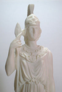 Goddess of Wisdom Athena Minerva Alabaster Statue Figure