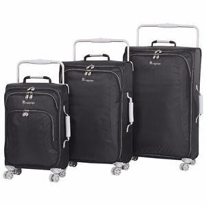 IT Luggage Niagara 3-Pc 8-Wheel Luggage-Raven Black-NEW IN