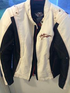 Ladies motorcycle jacket and helmet