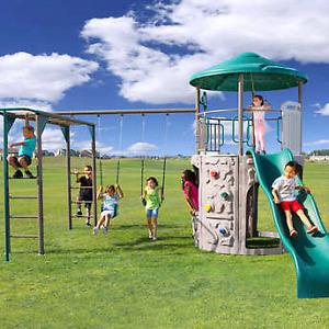 Lifetime Adventure Tower Deluxe Play Set Never installed