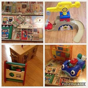 Lot of toddler toys including Hape and Oball