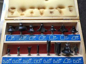 Mastercraft 15 Piece Rotor Bit Set in Wooden Box - Hardly