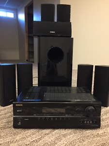 Onkyo 7.1 Receiver and speakers/Sub