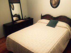 Queen size bedroom suite.