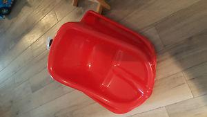 Red baby sled never used