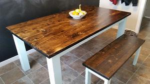 Rustic wood furniture