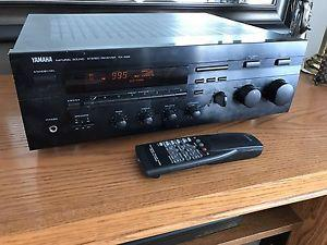 Serviced:YAMAHA RX-596 Stereo Receiver 80 WPC Turntable