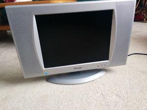 """Sharp 13"""" flat screen color tv"""