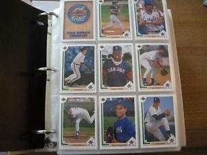 UPPER DECK BASEBALL SETS - IN PAGES AND BINDERS