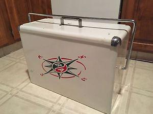 Vintage Metal BA Oil Picnic Cooler