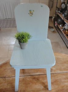Vintage Wood Child's Chair / Plant stand