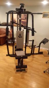 Weider gym and elliptical