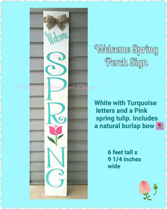 Welcome Spring Porch Sign
