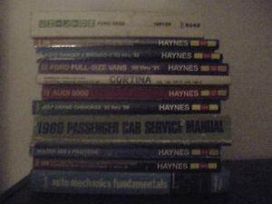 11 Automotive Repair Manuals.