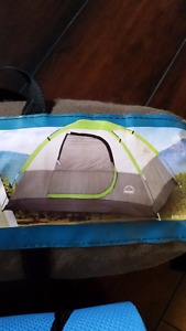 2 person dome tent and sleeping mat