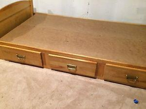 3 DRAWER BED with shelf for sale