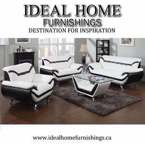 4 Pic living room set only - white