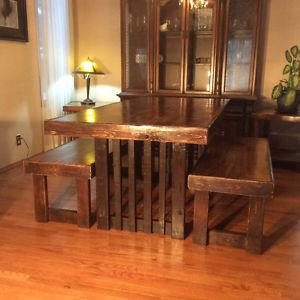Beautiful handcrafted dining table,reclaimed wood 795$!!