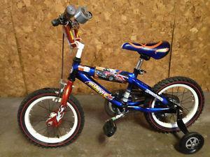 """Blue 14"""" Hot Wheels Bike"""