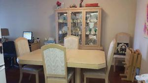 China cabinet and dining table/chairs