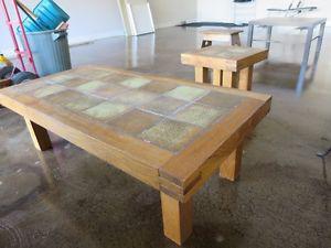 Coffee table set.