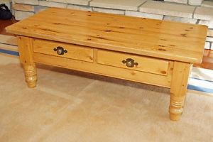 Country style pine coffee table