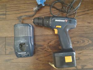 Drill with case and charger for $